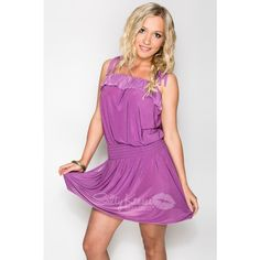 "Ruffle Dress ""Lavender Love"", available for $29.50 for registered customers! Ruffle Dress, Ruffles, Bikini Cover Up, Bikini Dress, Tall People, Good And Cheap, Suits You, Wrap Dress, Lavender"