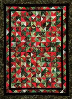 Christmas quilt but I would change the border to dark green