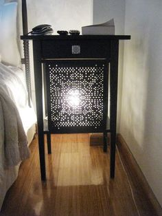 ***Rationell Variera** panels*** (-shelf inserts) on a Hemnes nightstand--from Ikea hackers