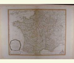 A New Map of the Kingdom of France 1794