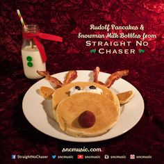 Straight No Chaser Rudolf Pancakes and Snowman Milk Bottles! Repin on www.sncmusic.com/... for your chance to win Straight No Chaser merchandise throughout the holiday season! Under the Influence: Holiday Edition Available Now: itunes.apple.com/...