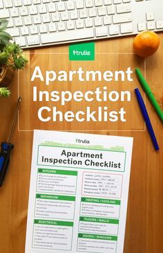Checklist for property inspection walkthrough walks - Tips for a successful apartment investment ...