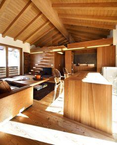 Impressive Interior Design for Wooden Houses