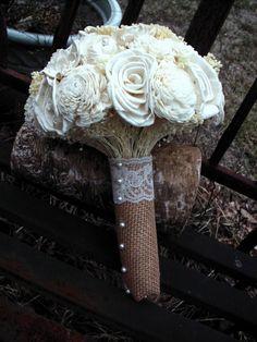 Sola flower bouquet wedding bouquet bridal by LittleBlueBirdSays