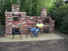 how to build a brick gas grill