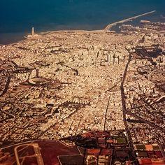 Casablanca Morocco from above  - Maroc Désert Expérience tours http://www.marocdesertexperience.com