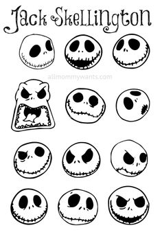 I LOVE Jack Skellington! If you are reading this page you must love him too! Here's a super easy tutorial on how to make Jack Skellington/Nightmare Before Christmas ornaments, perfect for both Christmas and Halloween! You will need: White round ornam Halloween Trees, Holidays Halloween, Halloween Crafts, Happy Halloween, Halloween Decorations, Halloween Prop, Halloween Witches, Diy Halloween Ornaments, Easy Halloween Drawings