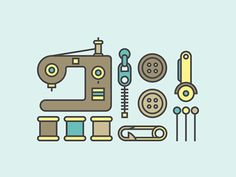 Sewing Icons by Jacob Pinson