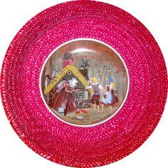 vintage German Hansel and Gretel ceramic plate