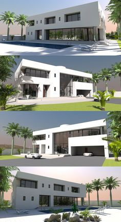 Contemporary house plan designs for the self-builder. We offer totally unique and inspiring modern designs for stunning new contemporary residences, to give your dream home the best possible start. Home Design Plans, Plan Design, Home 21, Floor Slab, Maids Room, Curved Staircase, Contemporary House Plans, Bedroom With Ensuite, Concrete Blocks