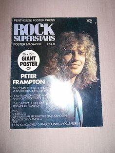 Starting Ebay Bid $10.00 Penthouse Poster Press Rock Superstars Poster Magazine No 9 Peter Frampton