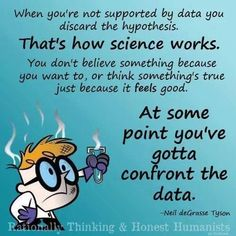 That's science, sooner or later you'll have to give in to the data.