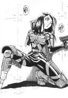 Game Tutorial and Ideas Manga Anime, Old Anime, Manga Art, Anime Art, Manga Cover, Alita Battle Angel Manga, Comics Anime, Character Art, Character Design