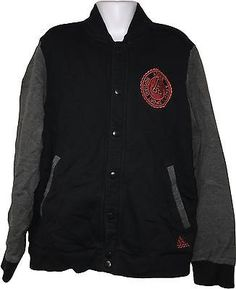 Used boys adidas black & grey #popper up #baseball style #jacket age 9-10 yrs (k.,  View more on the LINK: http://www.zeppy.io/product/gb/2/272485606042/