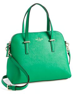 What better way to acknowledge to welcome Fall than with a green Kate Spade Cedar Street Maise Bag on your arm! #NationalHandbagDay