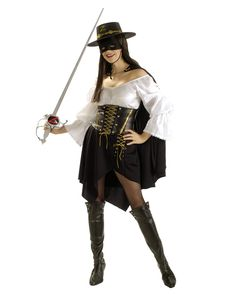 Female Zorro Adult Costume | Halloween Costumes