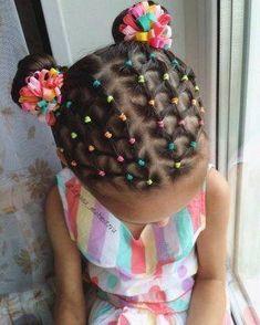 Super Braids For Girls Kids African Americans Beautiful Ideas - Kinder frisuren - Cute Toddler Hairstyles, Cute Little Girl Hairstyles, Baby Girl Hairstyles, Braided Hairstyles, Straight Hairstyles, Female Hairstyles, Amazing Hairstyles, Party Hairstyles, Short Haircuts