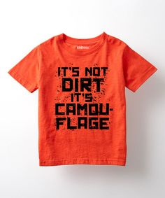 Look at this #zulilyfind! Orange 'It's Not Dirt' Tee - Toddler & Kids #zulilyfinds