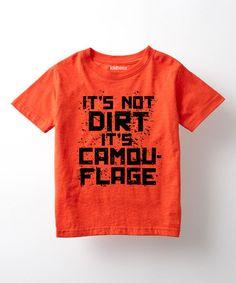 Look at this #zulilyfind! Orange 'It's Not Dirt' Tee - Toddler & Kids #zulilyfinds