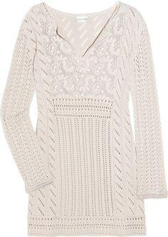 ShopStyle: Philosophy di Alberta Ferretti Crochet and silk-chiffon tunic