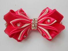 Бант из атласной ленты МК/ DIY Satin ribbon bow/Curva de fita de cetim - YouTube