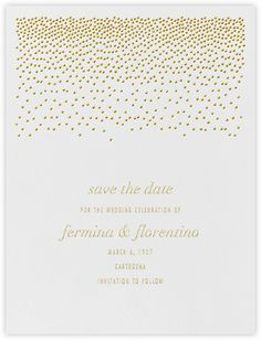 KELLY WEARSTLER X PAPERLESS POST. Save the Date   Jubilee I, Wedding Collection
