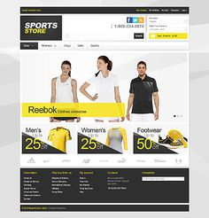 Sporty web design
