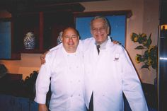Chef Jim with Fred Griffin at the Chili Cook Off for Autism.