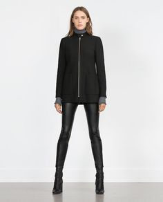 Image 1 of COAT WITH CENTRAL ZIP from Zara