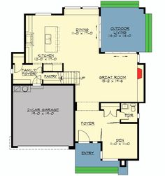 Contemporary Design With Angular Roofline - 23520JD   2nd Floor Master Suite, Bonus Room, Butler Walk-in Pantry, CAD Available,…