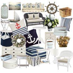 """""""Námořnický styl bydlení ( Nautical style home)"""" by nicolesynth on Polyvore"""
