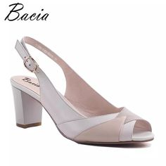 Bacia SheepSkin Sandals 2017 New Thick Square Pointed Toe Heels Buckle Strap Women High Pumps Leather Shoes Size Pointed Toe Heels, High Heels Stilettos, Shoes Heels, Sandal Heels, Shoes Sneakers, Cheap Womens Sandals, Womens Shoes Wedges, Cheap High Heels, Cute Shoes