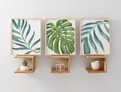 Holiday Deadlines + Please see FAQ below for order deadlines:) Thanks, Robin : Set of 3 Palm Leaf Art Prints *prints created with watercolor effect, please note you will not receive the original paintings *frames not included Coordinating Prints here