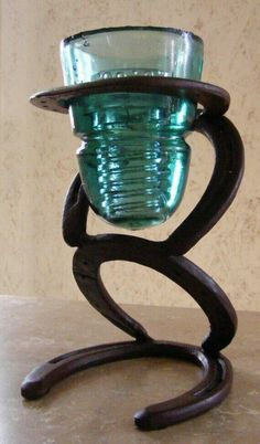 Candle Diy Crafts, Metal Crafts, Metal Projects, Welding Projects, Welding Ideas, Horseshoe Projects, Horseshoe Crafts, Horseshoe Art, Horseshoe Ideas