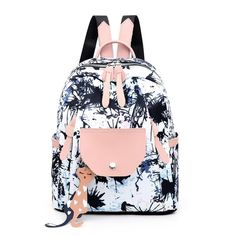 Women Backpack Flower Printing School Backpacks For Teenage Girls 2019 Nylon Bookbags Lady Daily Travel sac Shoulder Bags Outfit Accessories From Touchy Style. Cool School Bags, School Bags For Girls, Girls Bags, Ladies Bags, Cute Mini Backpacks, Girl Backpacks, School Backpacks, Cute Backpacks For Women, Justice Backpacks