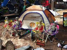 inflatable halloween camper | ... Halloween are exciting times as campers race to get ready for the big