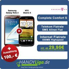 Telekom Complete Comfort S im Bundle mit Galaxy Note 2 + HTC Desire X und zusätzlich 100,- EUR Auszahlung http://www.simdealz.de/telekom/telekom-complete-comfort-s-mit-bundle-und-auszahlung-13kw31/ Mehr dazu hier: http://www.simdealz.de/telekom/telekom-complete-comfort-s-mit-bundle-und-auszahlung-13kw31/