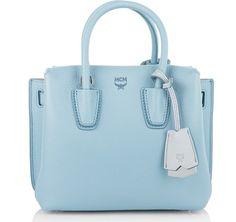 MCM Borse con manico, Milla Tote Mini Sky Blue blu