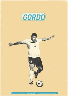 Cartazes vintage de jogadores de futebol | Criatives | Blog Design, Inspirações, Tutoriais, Web Design