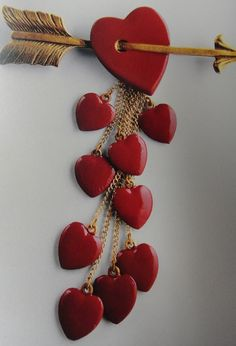 Happy Valentine's DAY!!  Vintage Coco Chanel pin