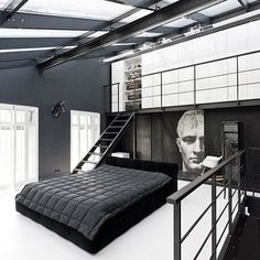 Black & White - a simple way to keep things masculine #BachelorPad #BeddingForMen