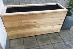 Blomsterkasse i Sibirsk Lerk Planter Box Plans, Wood Planter Box, Wood Planters, Patio Edging, Diy Patio, Outdoor Projects, Outdoor Decor, Plant Box, Raised Garden Beds