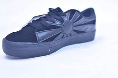TUK BLACK JAPANESE RISING SUN SUEDE SKATE SNEAKERS #A6169 UNISEX 7 9 40 NOS MGK