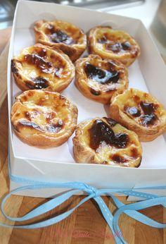 Portuguese custard tarts use filo but the custard recipe is good