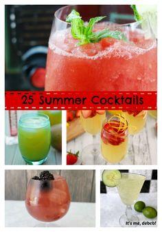 25 Summer Cocktails - It's me, debcb!
