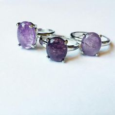 Serenity rings from out Amethyst ring collection