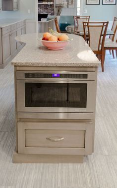 Built In Microwave Cabinet In island Fresh Kitchen island Built In Microwave Extra Storage and Prep Space Built In Microwave Cabinet, Microwave In Kitchen, New Kitchen, Kitchen Island Microwave, Microwave Drawer, Microwave Oven, Kitchen Small, Hidden Microwave, Kitchen Ideas