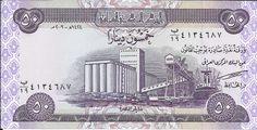 IRAQUE - CÉDULA DE 50 DINARS ANO 2003 - PEÇA FLOR DE ESTAMPA - PEÇA EM EXCELENTE ESTADO DE CONSER