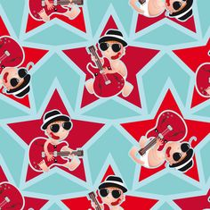Project Selvage - baby blues brothers fabric by verycherry on Spoonflower - custom fabric