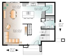 Contemporary Modern Level One of Plan 76368